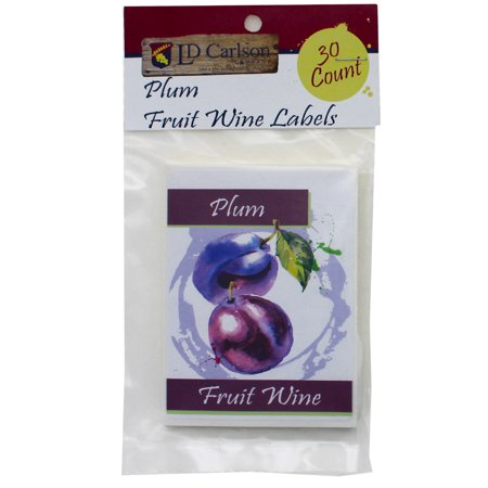 Plum Fruit Wine Labels