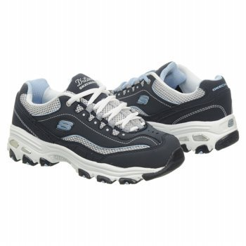 Skechers D'Lites Centennial Women's Casual Sneakers, Navy/White/Light Blue, US Women's