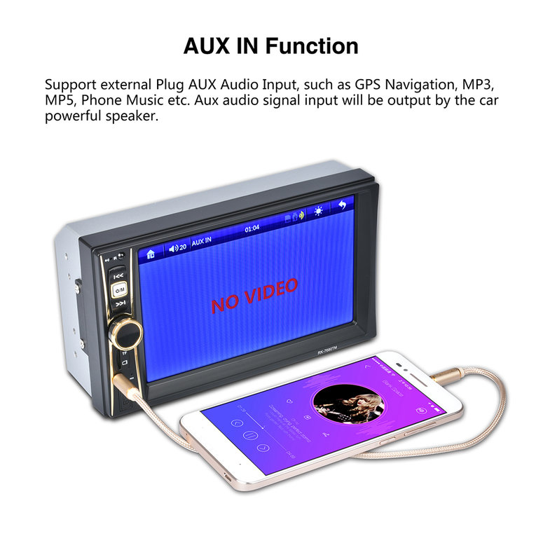 6.6 Inch Touch Screen Digital Stereo Radio HD Display Auto Car MP5 MP3