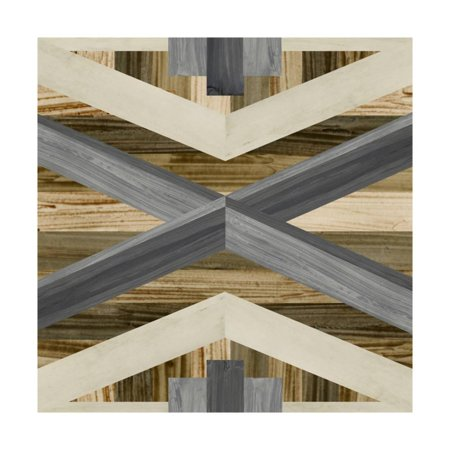 Inlay Art - Geometric Inlay III Print Wall Art By June Vess