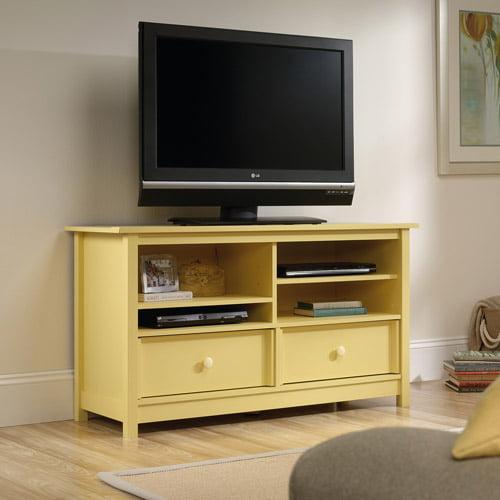 "Sauder Original Cottage Melon Yellow Entertainment Credenza for TVs up to 50"""