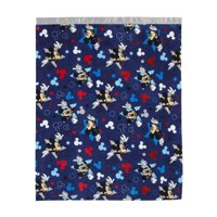 Disney Mickey Mouse Navy, Red, White, Toddler Blanket with Satin Trim