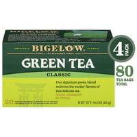 Bigelow Classic Green Tea, Tea Bags, 20 Ct (4 Boxes)