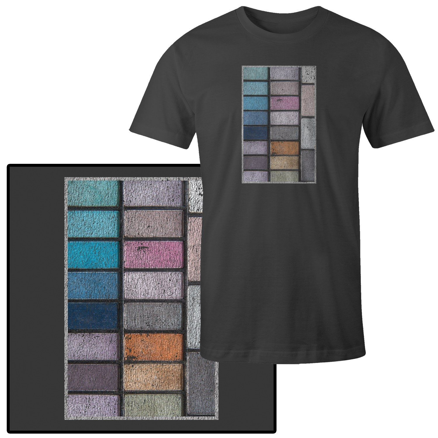 Men's Colorful Pack of Eye Shadow Makeup in Compact T-Shirt