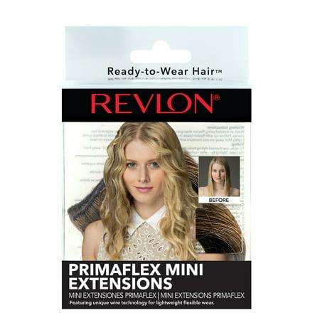 Revlon Prima Flex Mini 2-Piece Hair Extensions, Medium Brown