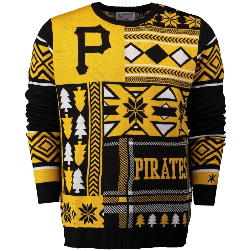 Pittsburgh Pirates Klew Patches Ugly Sweater - Black