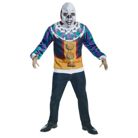 Adult Male IT The Movie Deluxe Pennywise Clown Hoodie by Rubies - Pennywise It Costume