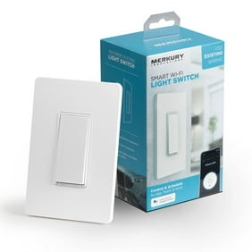 Merkury Innovations Smart Light Switch, Requires 2.4Ghz Wifi