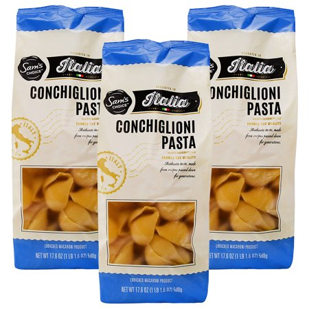 (3 Pack) Sam's Choice Italia Conchiglioni Pasta, 500g ()