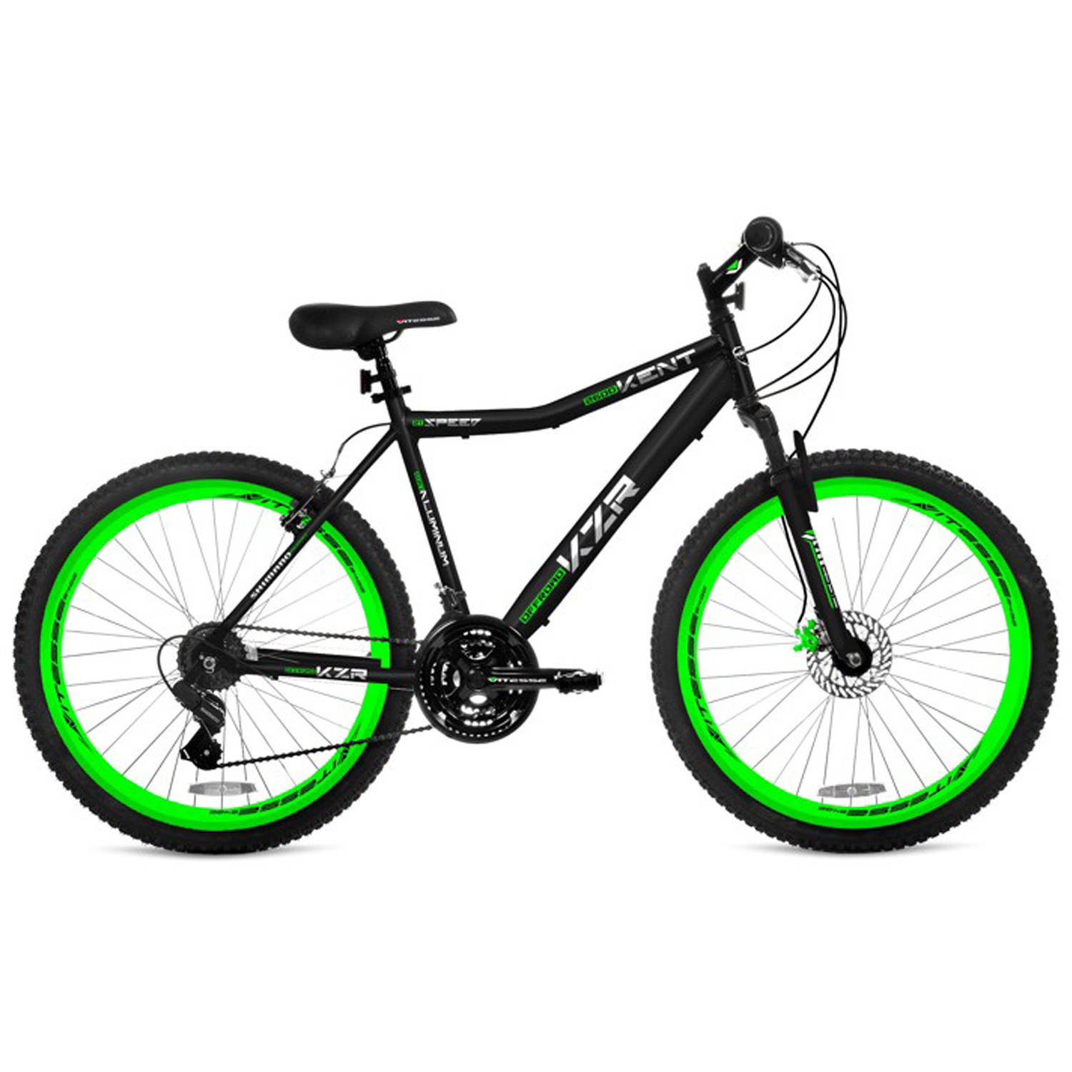 "26"" Men's Kent KZR Mountain Bike, Black/Green"