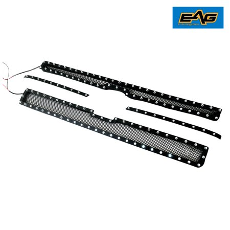 EAG 11-14 Chevrolet Silverado 2500HD / 11-14 Chevrolet Silverado 3500HD 4pcs Cutout Black Stainless Steel (2017 Chevrolet Silverado 2500hd High Country Configurations)