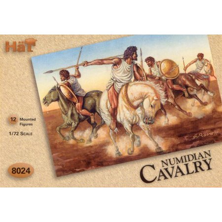 Hat Industries 8024 1:72 Numidian Mounted Cavalry Figures (12)