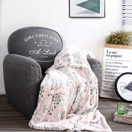 luxury collection ultra soft plush fleece lightweight all-season throw/bed blanket (queen, pink leopard) ()