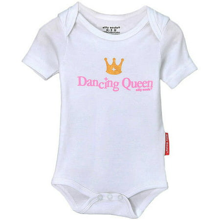 Silly Souls Newborn Baby Girl Dancing Queen Bodysuit