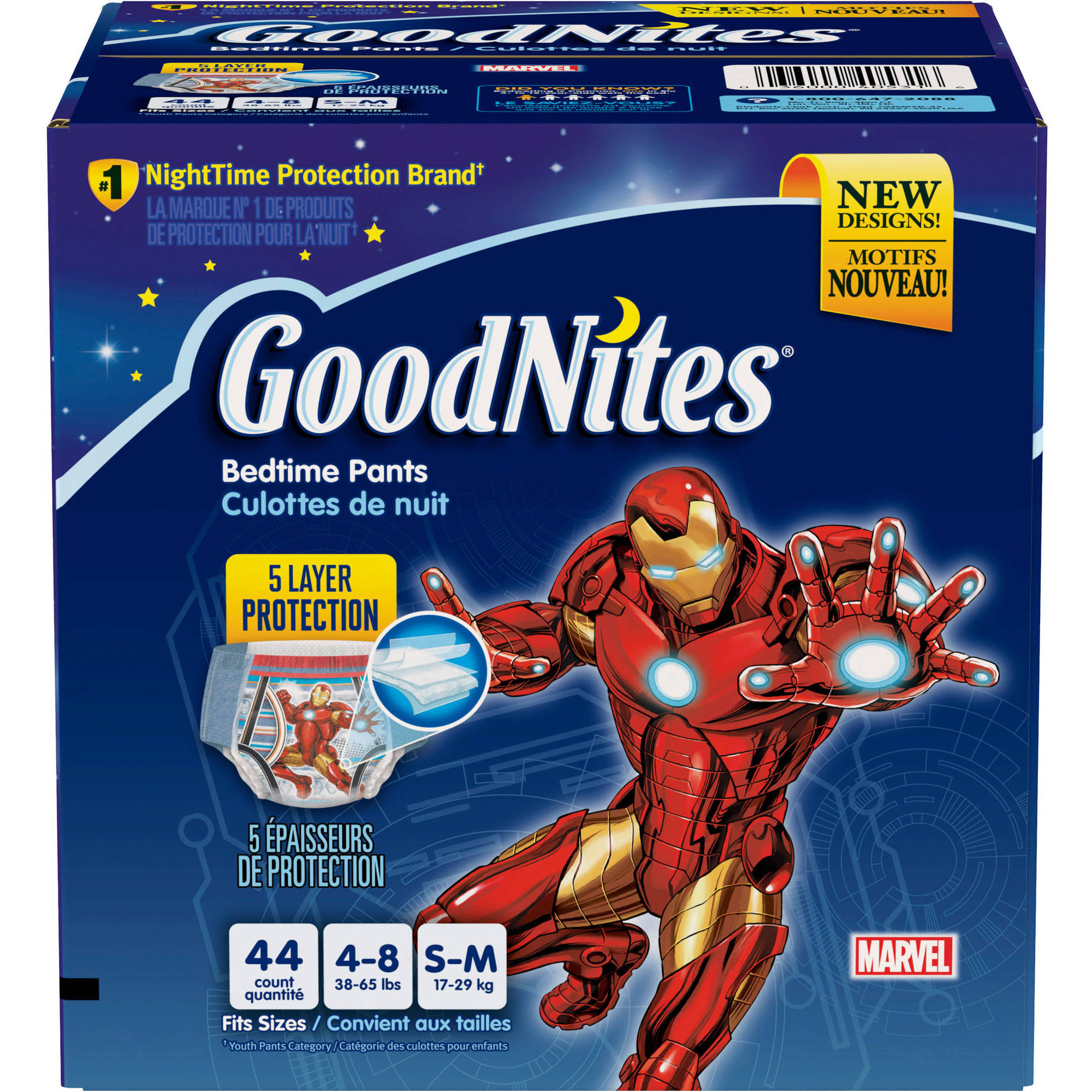 GoodNites Boys' Bedtime Underwear, Super Pack, (Choose Your Size)