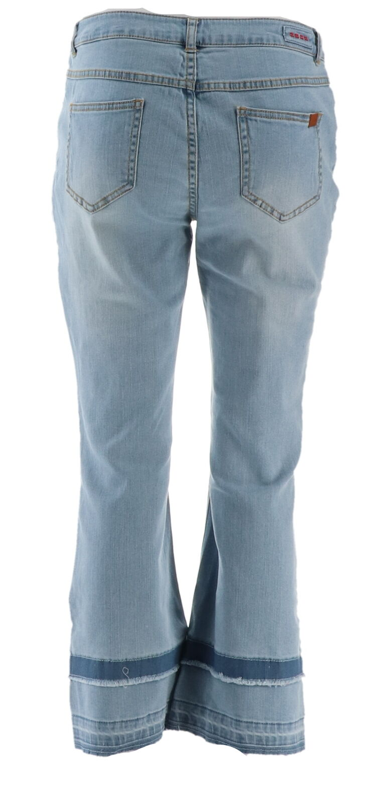 Peace Love World Cropped Jeans Double Layer Hem Medium Wash 18W NEW A350551