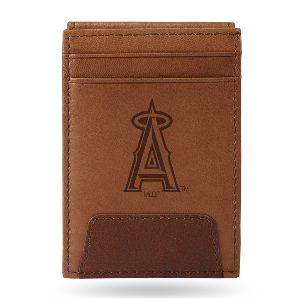 Los Angeles Angels Sparo Leather Front Pocket Wallet - No Size