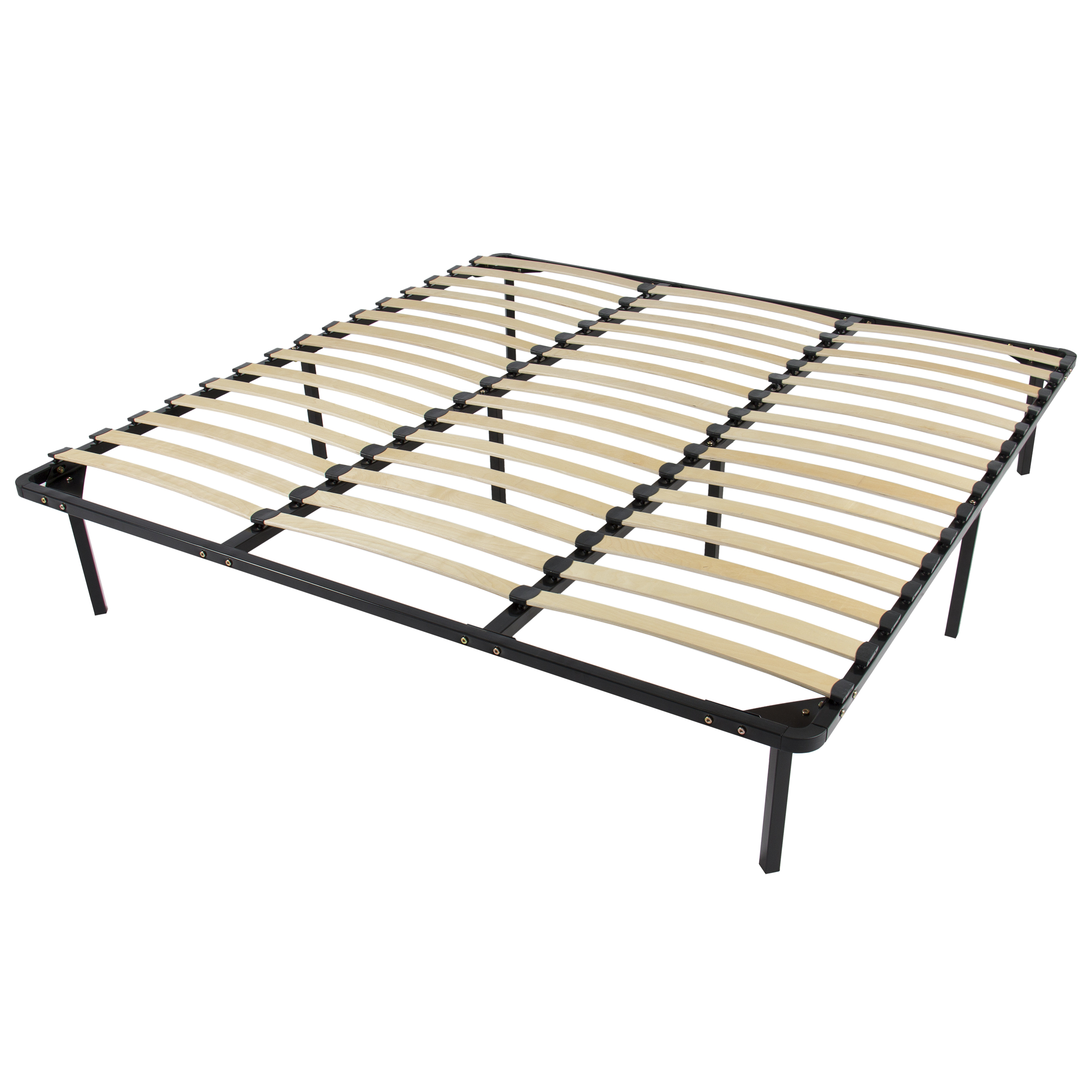 Best Choice Products Wooden Slat Metal Bed Frame Wood Slats Platform Bedroom Mattress Foundation King