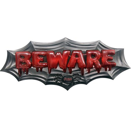 Light-Up Beware Doorbell Sign with Sound Effects](Halloween Doorbell Sound Effect)
