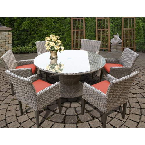 TK Classics Monterey 7 Piece Dining Set with Cushions