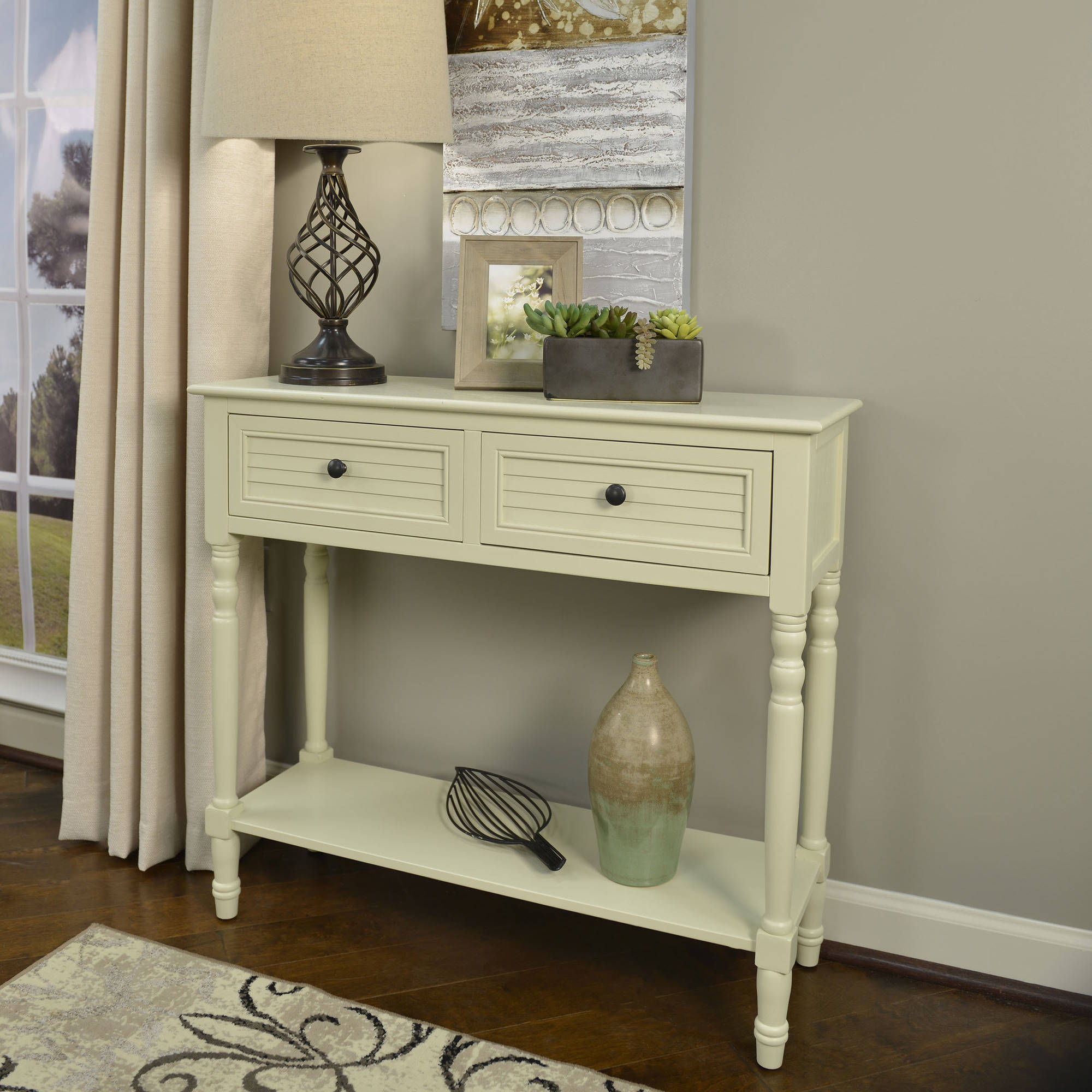 Better homes and gardens shutter 2 drawer console table multiple better homes and gardens shutter 2 drawer console table multiple colors walmart geotapseo Gallery
