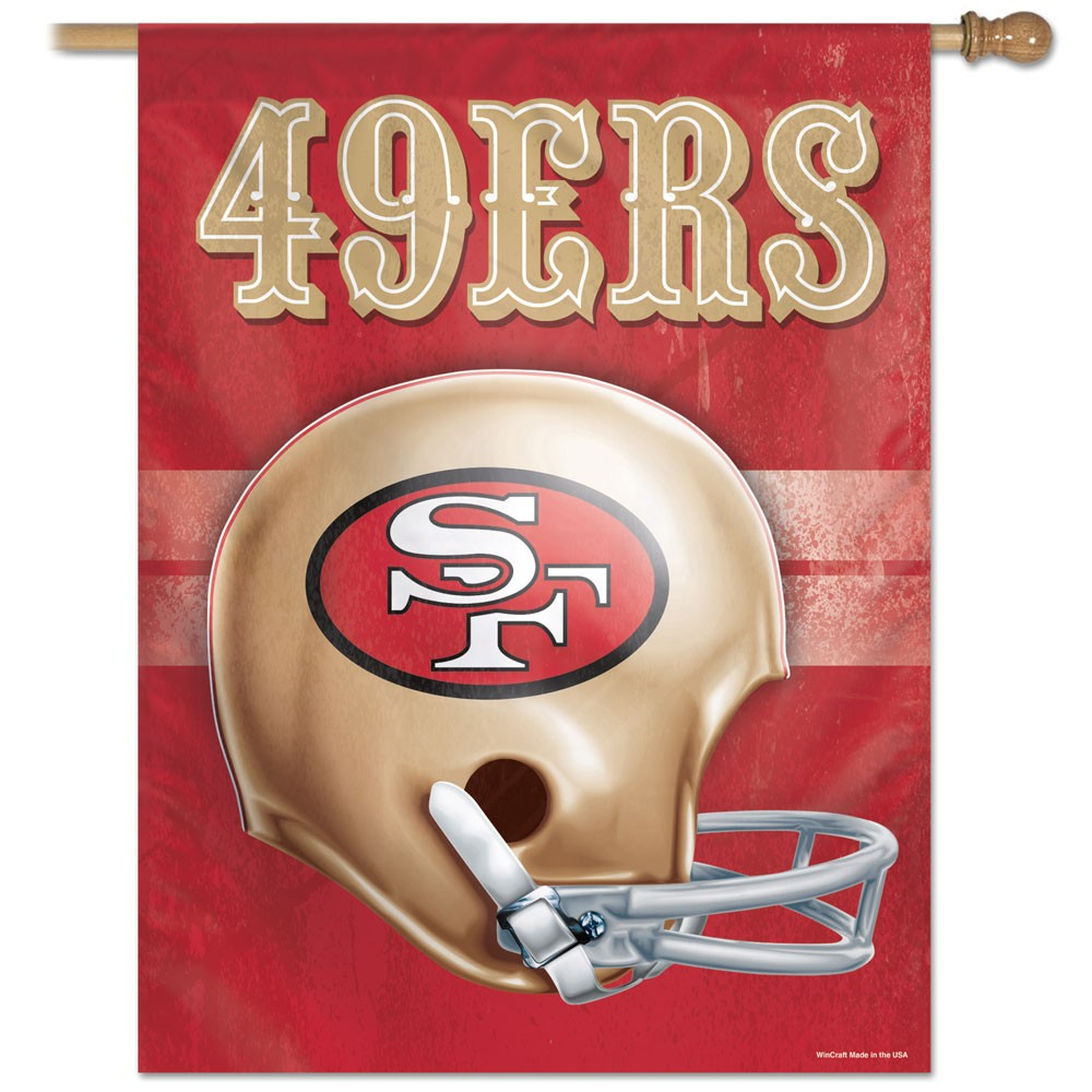 San Francisco 49ers Official NFL 27 inch x 37 inch  Banner Flag by Wincraft