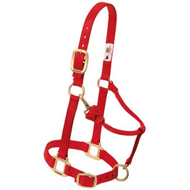 Weaver Leather 35-7034-RD 1 in. Small Adjustable Chin & Throat Snap Halter - Red