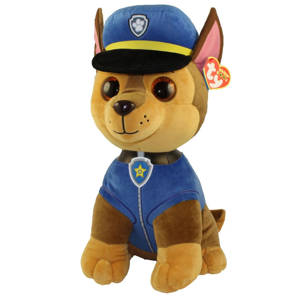 TY Beanie Boos - Paw Patrol - CHASE German Shepherd (LARGE Size - 20 inch)