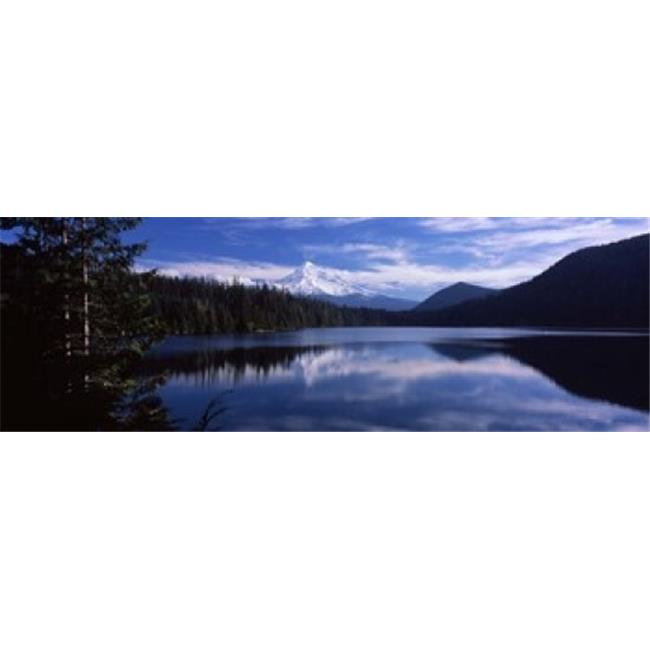 Panoramic Images PPI109452L Reflection of clouds in water  Mt Hood  Lost Lake  Mt. Hood National Forest  Hood River County  Oregon  USA Poster Print by Panoramic Images - 36 x 12 - image 1 of 1