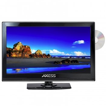 "Axess TVD1801-15 15.4"" LED AC/DC TV with DVD Player Full ..."