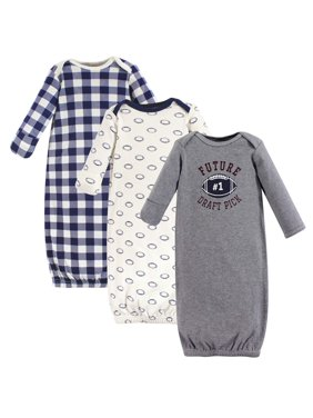 Hudson Baby Baby Boy Gowns, 3-Pack