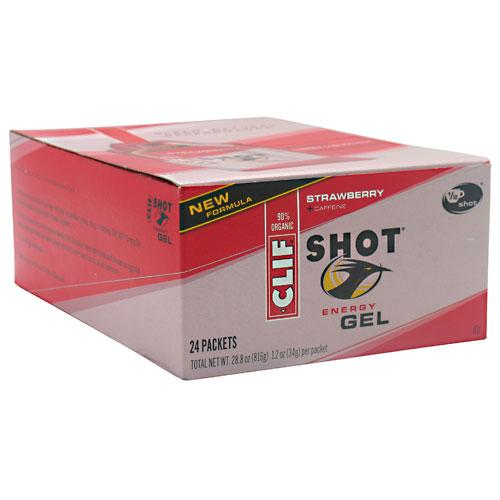 CLIF SHOT - Energy Gel - Strawberry - (1.2 Ounce, 24 Count)