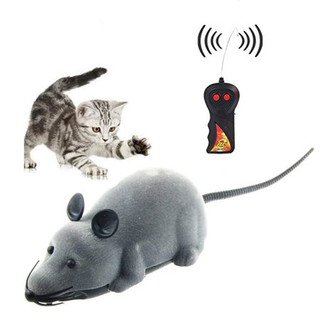 Yosoo Wireless Control RC Electronic Rat Mouse Mice Toy For Cat Puppy Xmas Gift ()