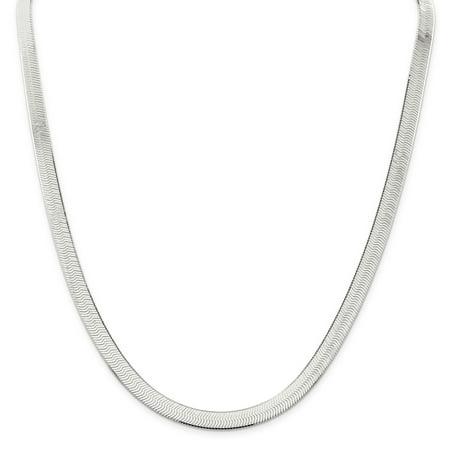 925 Sterling Silver 7mm Magic Herringbone Chain Necklace, Bracelet or Anklet