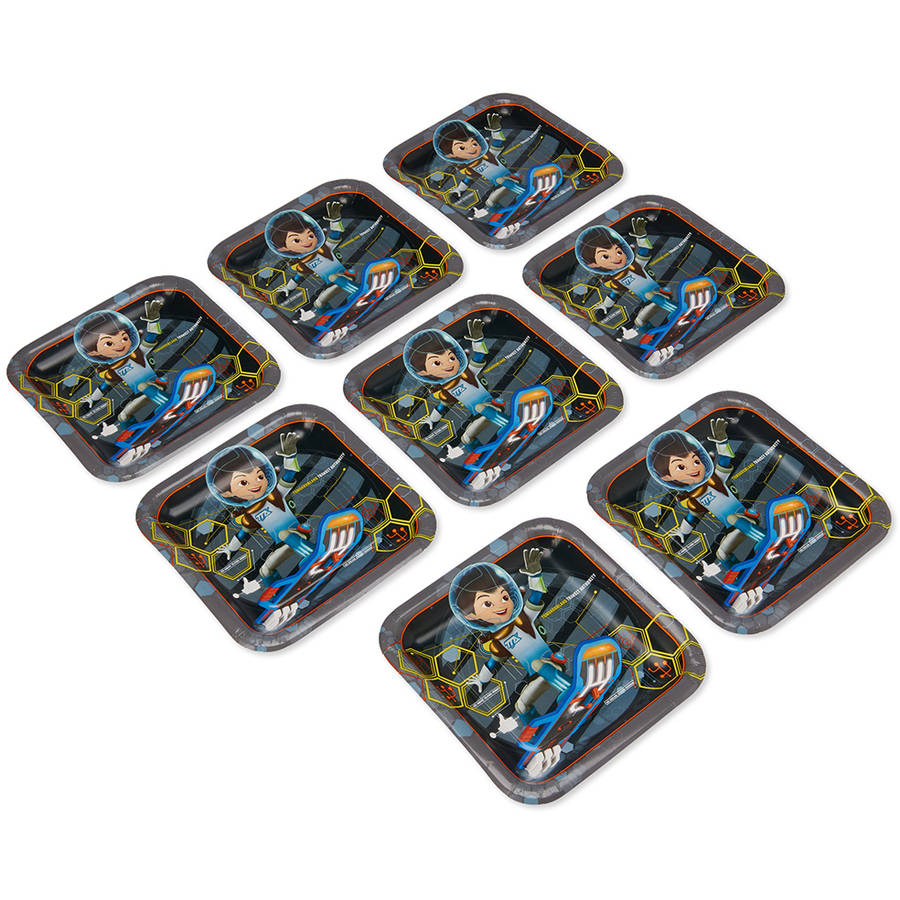 "Miles from Tomorrowland 9"" Square Plate, 8 Count, Party Supplies"