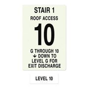 INTERSIGN NFPA-PVC1812(1GA10) NFPASgn,StairId1,RoofAccssA,Flr Lvl 10 G0265277