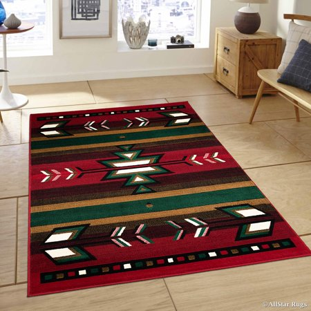 Allstar Red Woven High Quality Rug. Traditional. Persian. Flower. Western. Design Area Rug (7' 7
