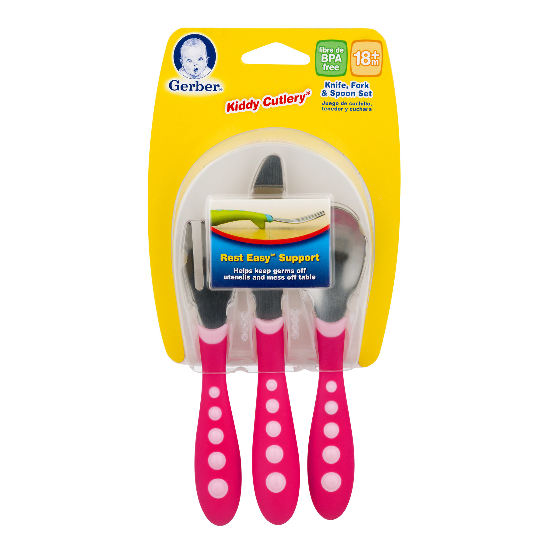 Gerber Kiddy Cutlery Set 18+m, 1.0 CT