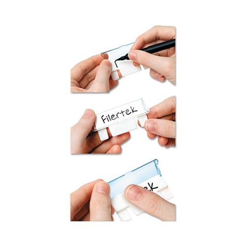 """Pencil Grip FTB12C Hanging File Tabs, 2 1/4"""" wide, Assorted/White, 12/PK"""