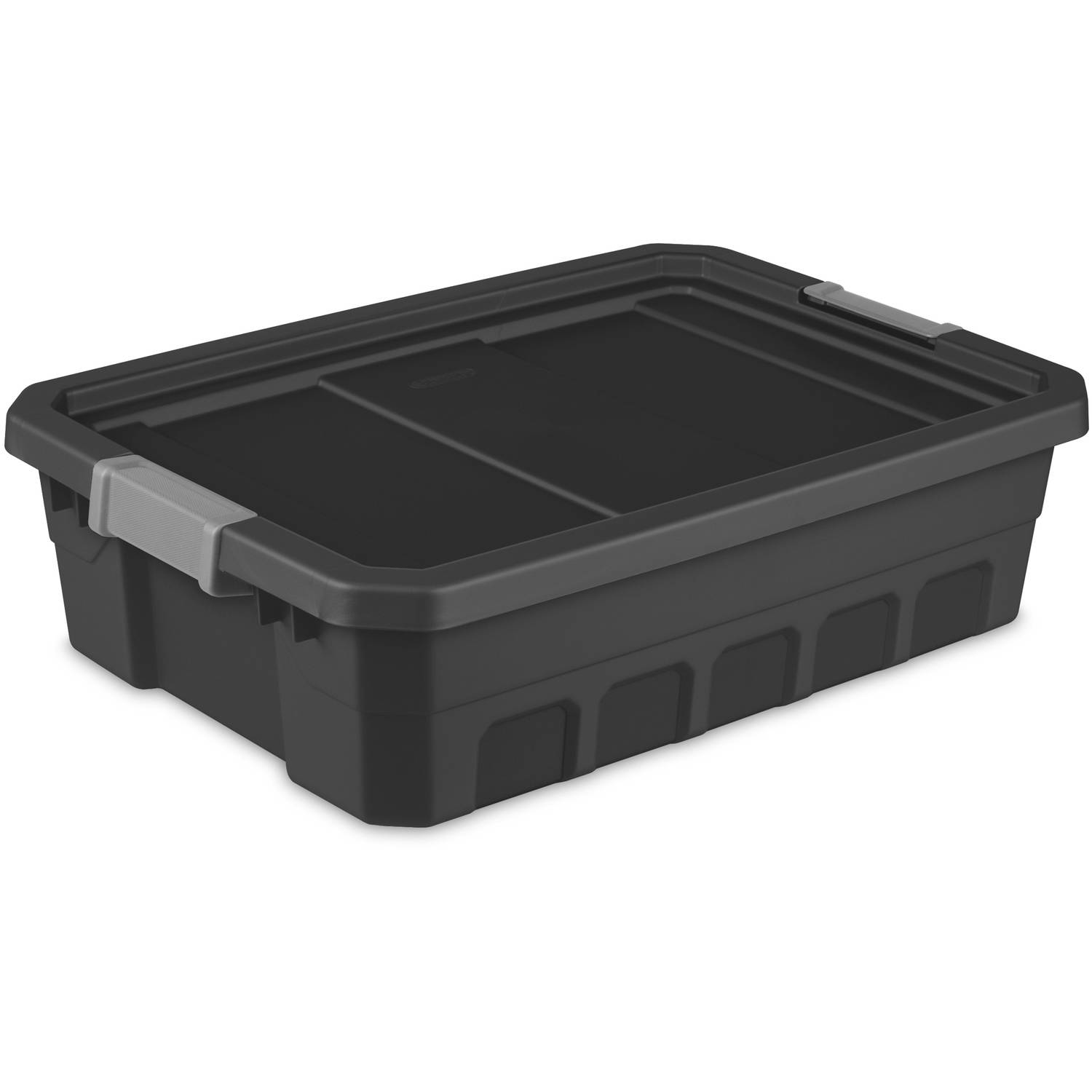 Sterilite 10 Gallon Stacker Tote- Black, Case of 6