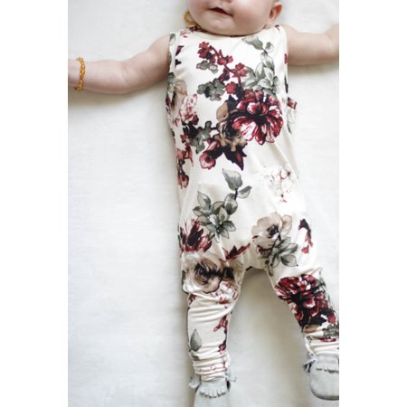 DYMADE Baby Girls Newborn Funny Bodysuits Infant Cotton Rompers Outfits