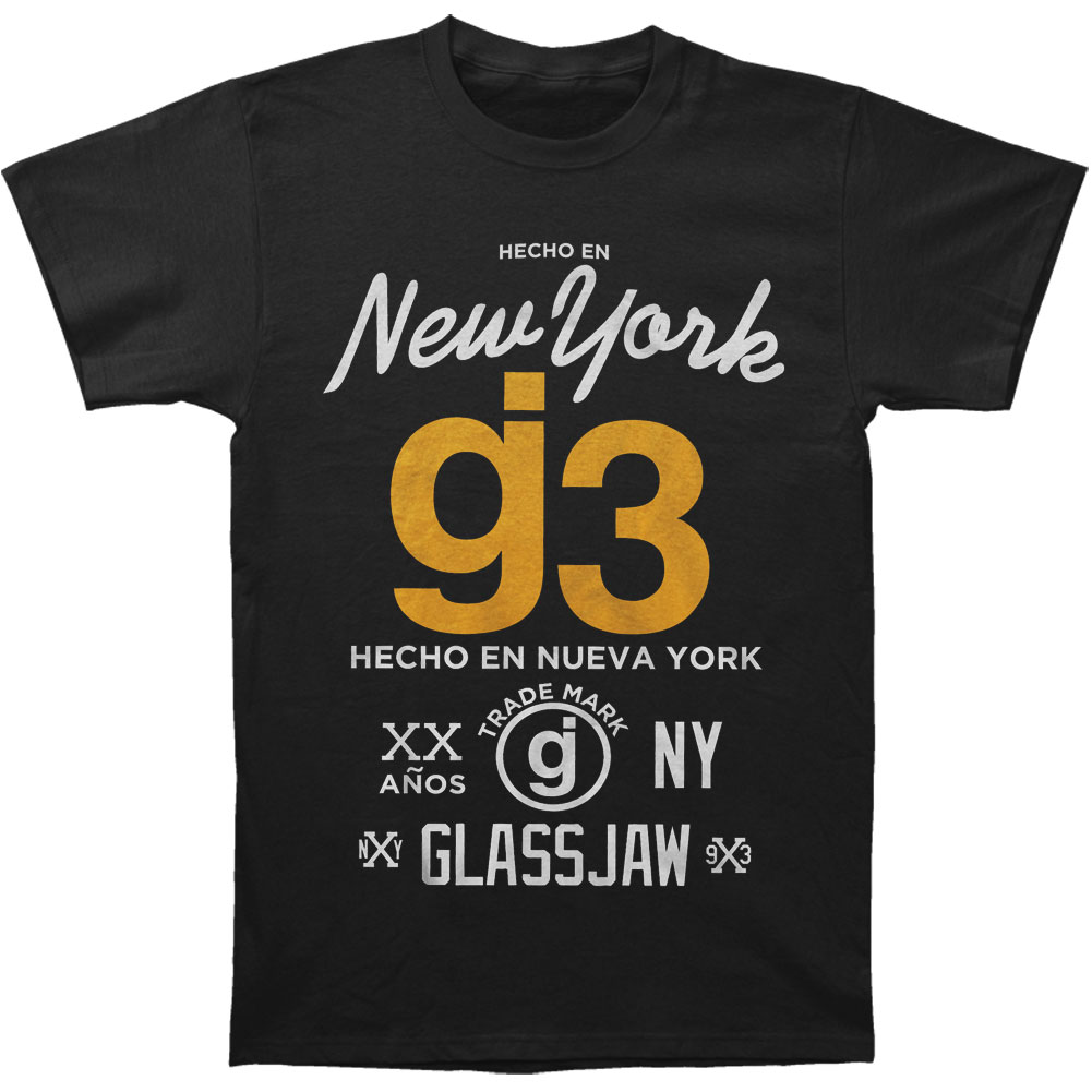 Glassjaw Men's  Hecho En New York T-shirt Black