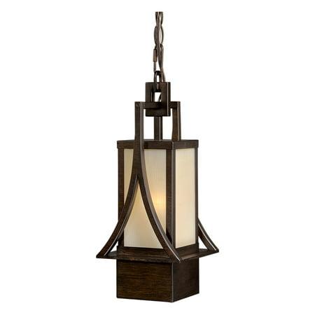 Outdoor Pendant 1 Light Fixtures With Venetian Bronze Finish Steel Material Medium 6