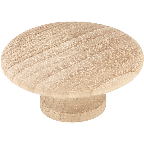 "Brainerd 2"" Wood Round Knob, White Birch"