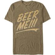 Lost Gods Men's  Beer Me - Heather T-shirt Mocha