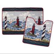 Lighthouse 2 Piece Bath Mat Set
