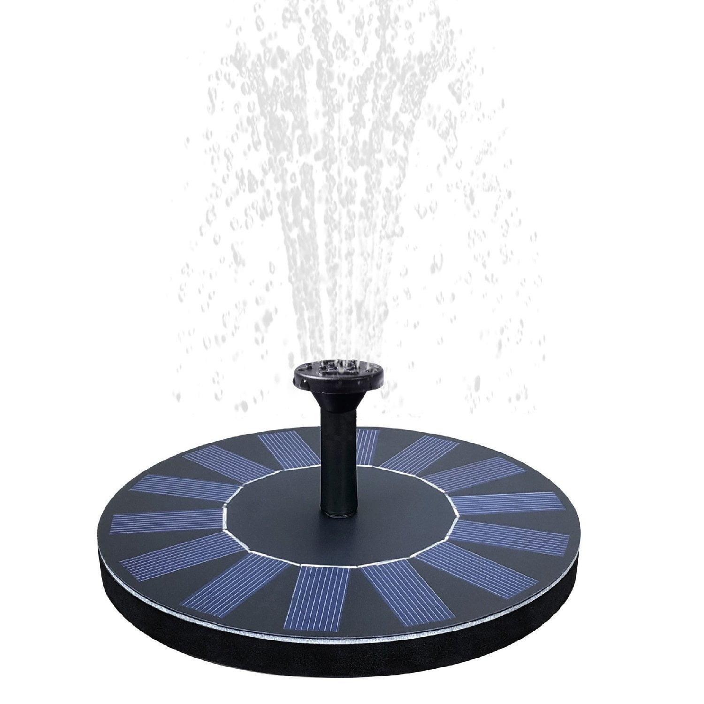 Solar Powered Floating Fountain Pool Water Pump Garden Plants Waterin