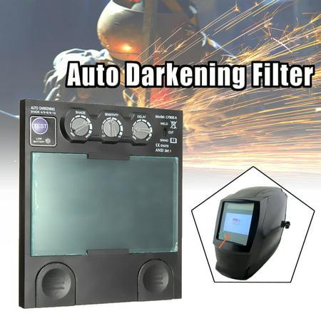 Auto Darkening Filter Welding Mask Big View Area 4 arc Sensor Solar  TIG MIG MMA  - image 6 de 8