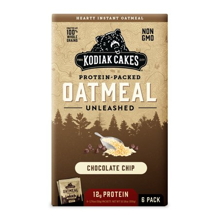 Kodiak Cakes, Protein Packed Instant Oatmeal, Chocolate Chip, 12g Protein, 6 Packets