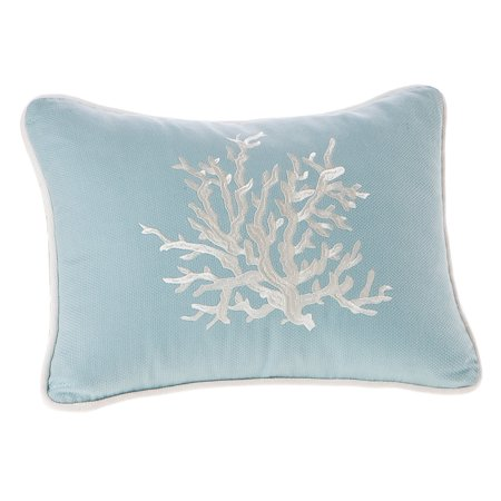 Harbor House Coupons (Harbor House Coastline Fashion Cotton Throw Pillow, acquard Oblong Decorative Pillow, 12X16, Blue )